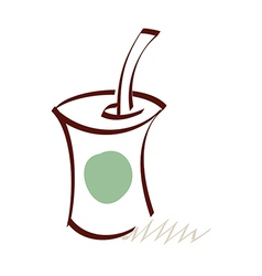 icon drink vector image vector image