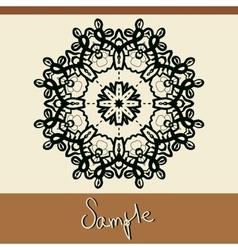 Invitation cover with mandala like oriental vector