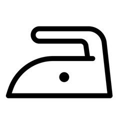 Iron low temperature icon outline style vector
