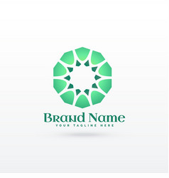 islamic pattern shape logo design concept vector image