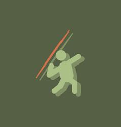 Javelin throwing athlete man - in sticker style vector