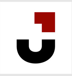 ju initials geometric letter company logo and icon vector image