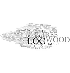 Log word cloud concept vector