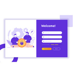 Login ui ux design concept and vector