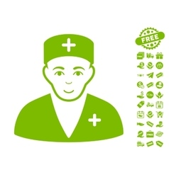 Medic Icon With Free Bonus vector