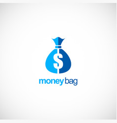 money bag bank business logo vector image