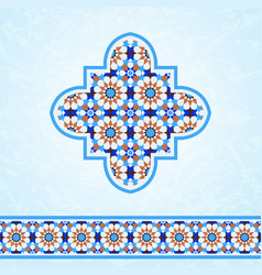 moroccan mosaic design elements vector image