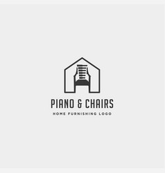music furniture logo design icon icon element vector image