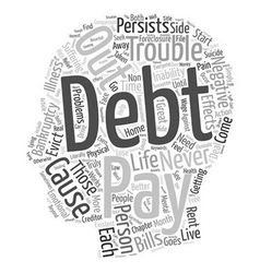 Negative side effects of debt text background vector