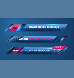 news graphic banners vector image