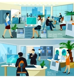 Office compositions with working people vector