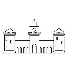 old castle icon outline style vector image