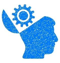 Open Head Gear Grainy Texture Icon vector