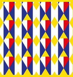 Rhombus geometric seamless pattern cage endless vector