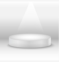 round white stage podium with light beam vector image