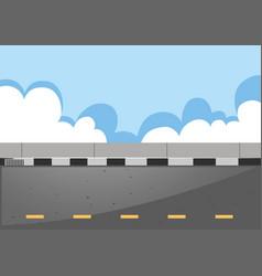 Scene with empty road vector