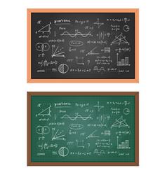 school blackboard chalkboard vector image