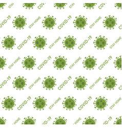 Seamless pattern 2019-ncov covid-19 virus vector