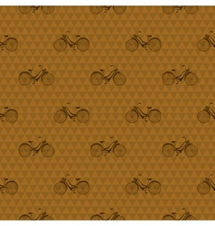 Seamless pattern with repeated images bicycle vector