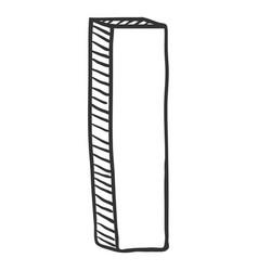 Single doodle sketch - the letter i vector