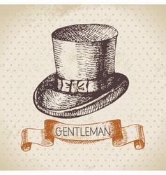 Sketch gentlemen accessory vector
