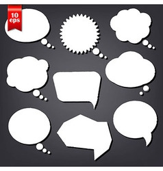 Speech Bubble Drawn With Chalk Set vector