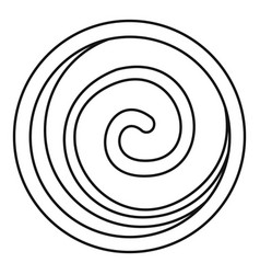 Spiral cake icon outline style vector