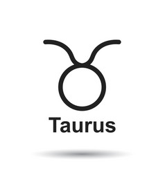 taurus zodiac sign flat astrology on white vector image