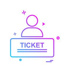 ticket icon design vector image