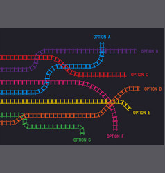 train tracks infographic vector image