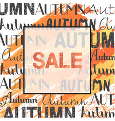 trendy autumn sale banner in frame for poster vector image