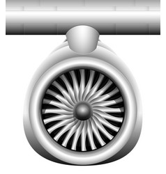 turbine of a jet engine of a modern aircraft vector image