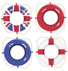 Uk life savers vector