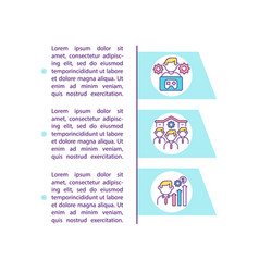 Video game design careers concept icon with text vector