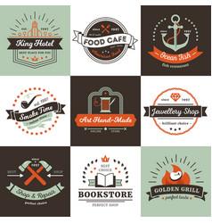 Vintage logos design concept vector