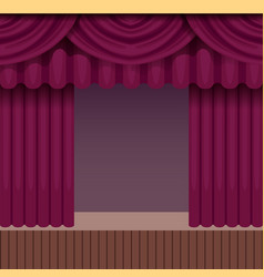 vintage theater scene background with purple vector image