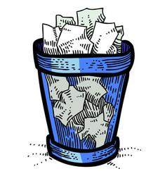 cartoon image of trash vector image vector image