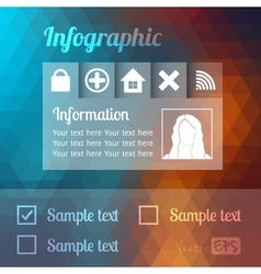 Modern Design template infographics or website vector image