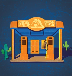 Old gas stations vector