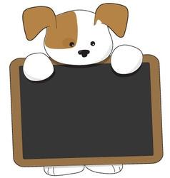 puppy blackboard vector image