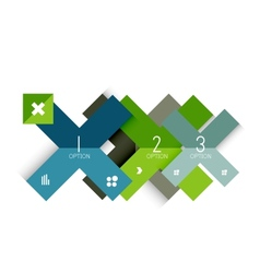 Creative paper flat geometric banner template vector image
