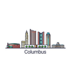 flat line columbus banner vector image