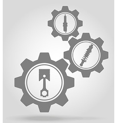 gear mechanism concept 11a vector image
