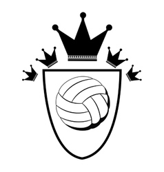 Isolated ball of volleyball design vector image vector image