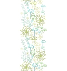 Mysterious green garden vertical seamless pattern vector image vector image