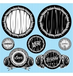 set of patterns for monochromatic emblems with vector image vector image