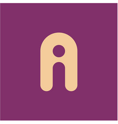 two letters a and i ligature logo vector image vector image