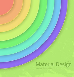 Bright colorfull material design abstract circles vector