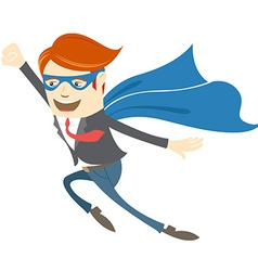 Office superman flying vector image