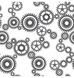 Seamless pattern of gear wheels vector image